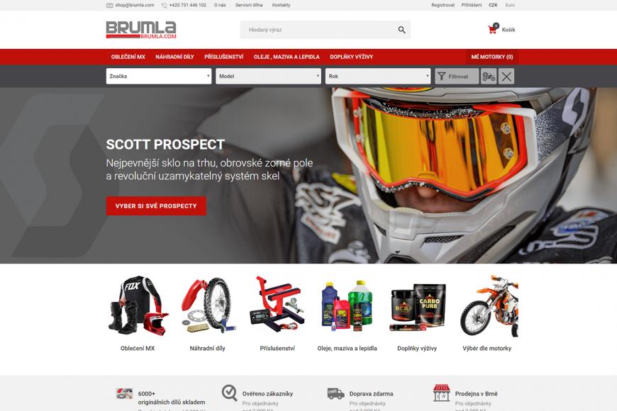E-shop - zboží pro motokros - Brumla.com