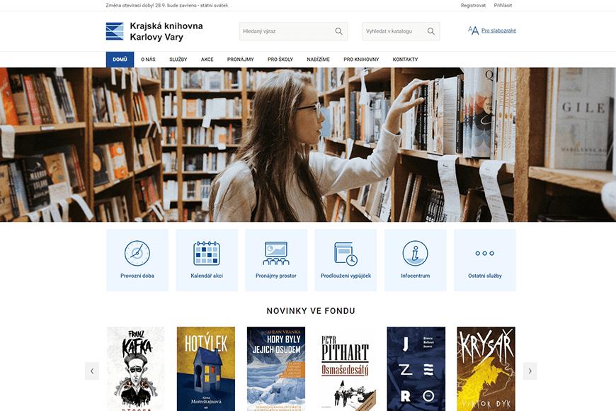 Webové stránky - Krajská knihovna Karlovy Vary