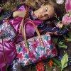 LiLiÓ Etch Flowers M Carry All středně velká kabelka 37x27x12 cm Cherry Rose