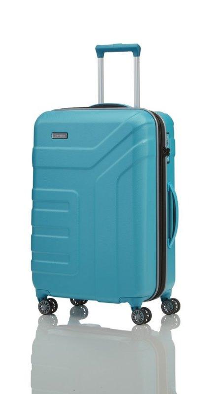 Travelite Vector 4w M cestovní kufr TSA 70 cm 79-91 l Turquoise
