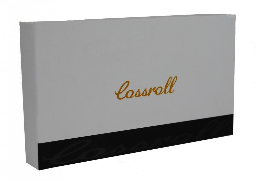 Cossroll 01-5242-2 dámská kožená peněženka v dárkové krabičce černo-červená kroko