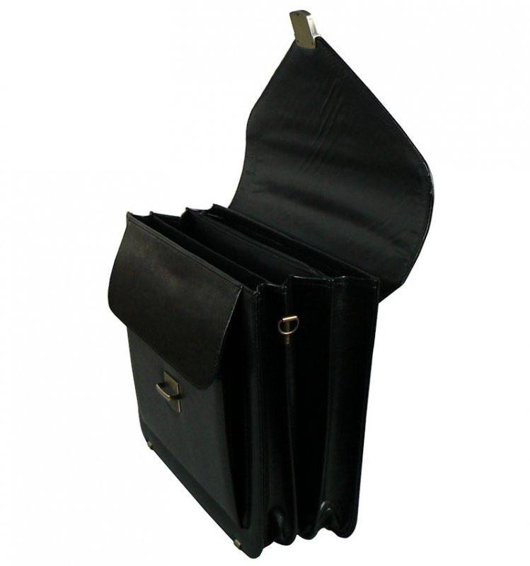Aktovka REAbags 7173B - černá/nikl