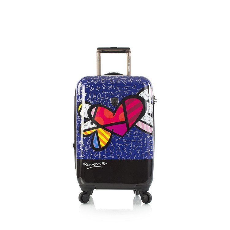 Heys Britto Heart with Wings S designový cestovní kufr na 4 kolečkách TSA 53 cm