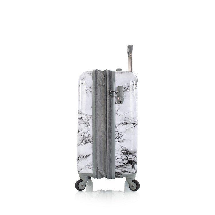 Heys Bianco S skořepinový palubní kufr TSA 53 cm 51 l bílý mramor
