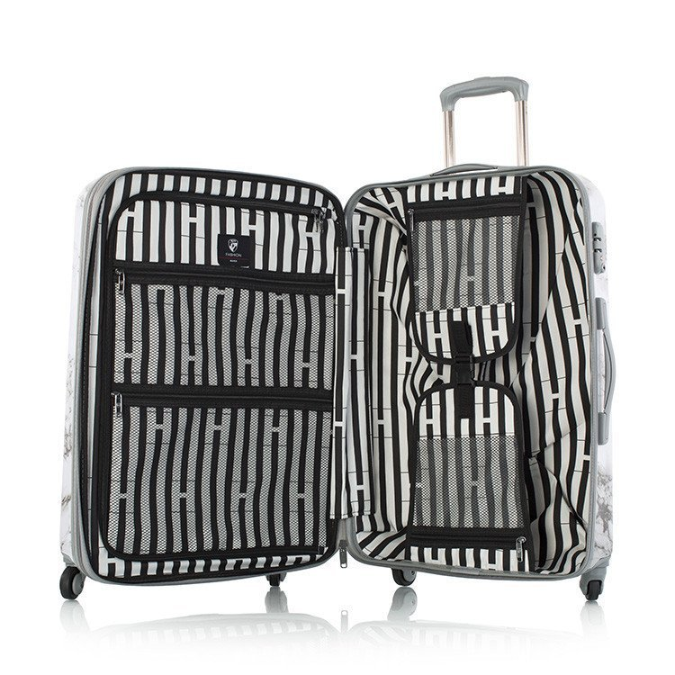 Heys Bianco M štýlový cestovný kufor na TSA 66 cm biely mramor