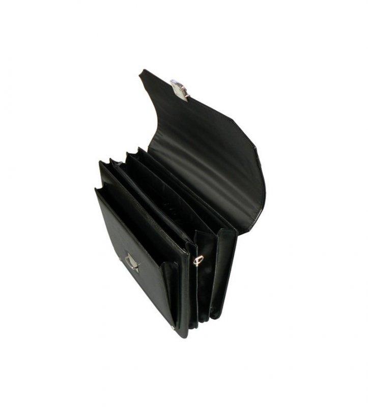 Aktovka REAbags 7253-TR - černá/nikl