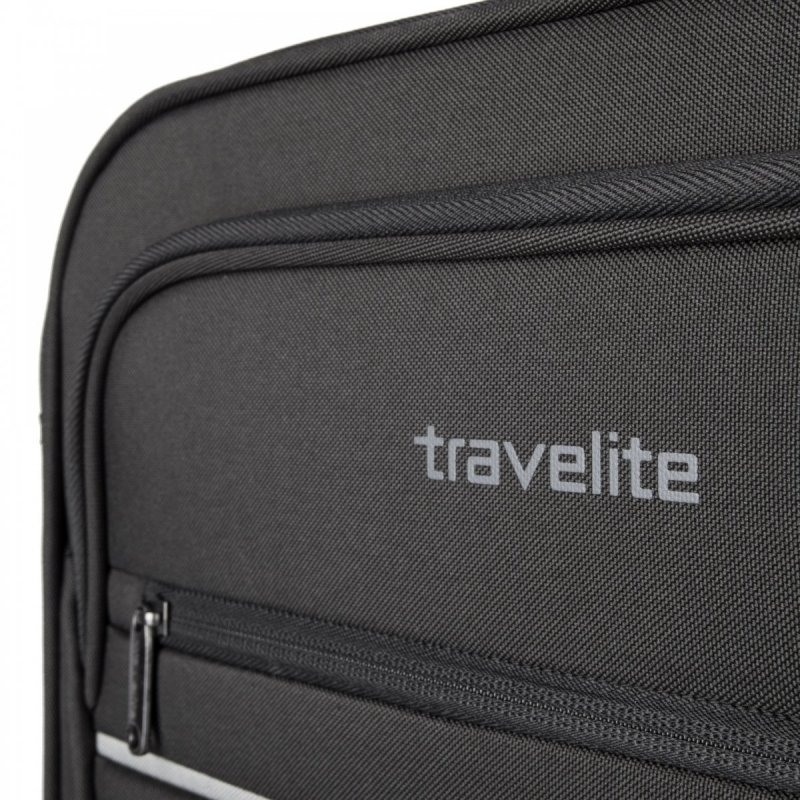 Travelite Cabin 2w S ultralehký palubní kufr 55x40x20 cm 1,9 kg Anthracite