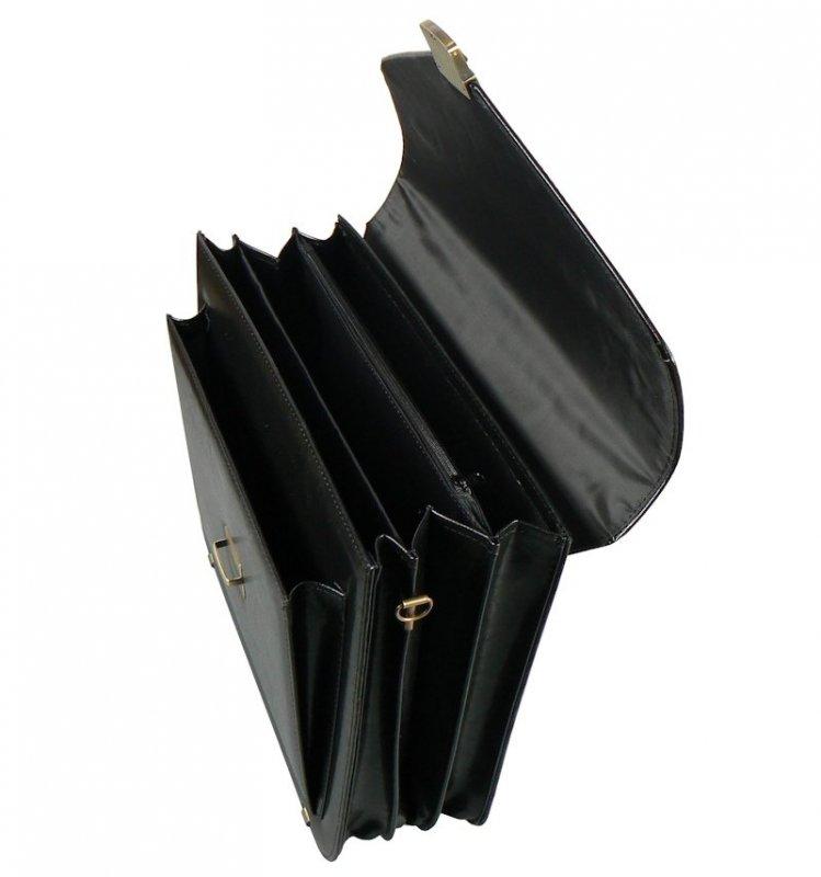 Aktovka REAbags 7173 - černá/nikl