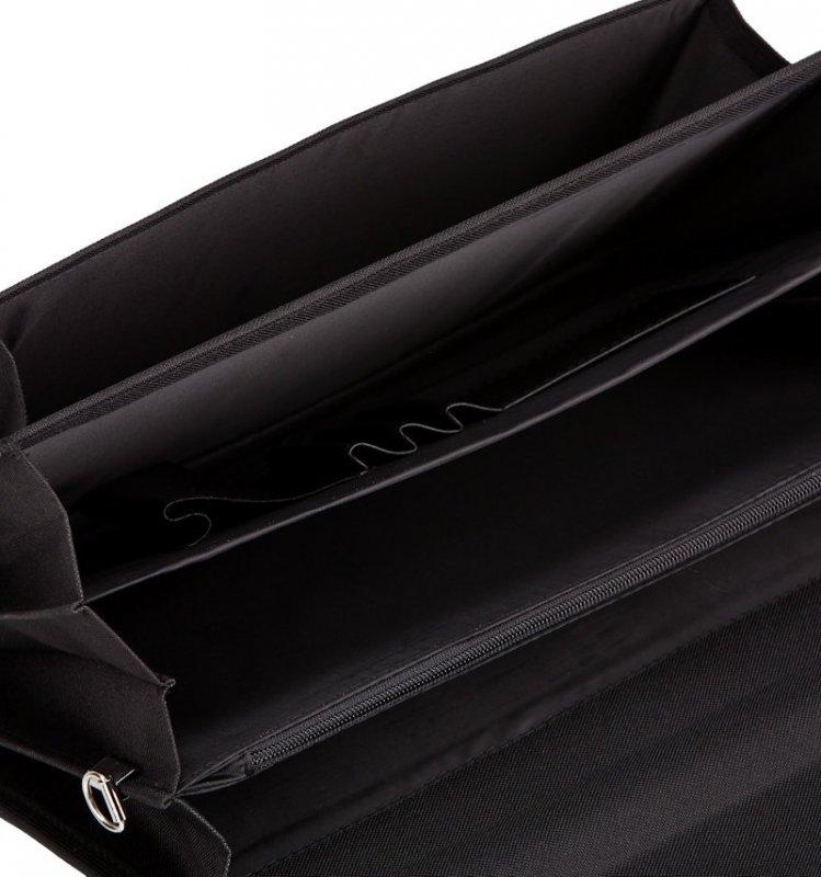 Aktovka REAbags 7416-T - černá-textil