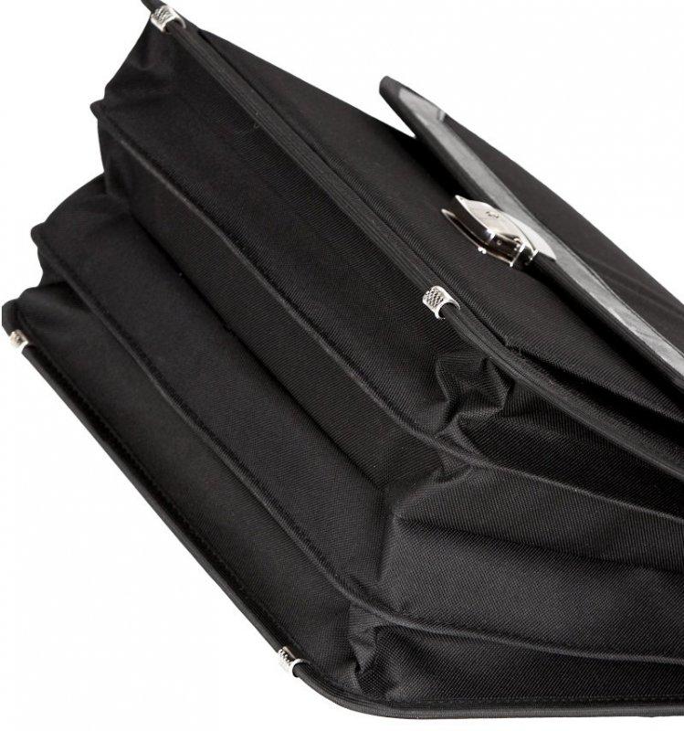 Aktovka REAbags 7253-T - černá/nikl