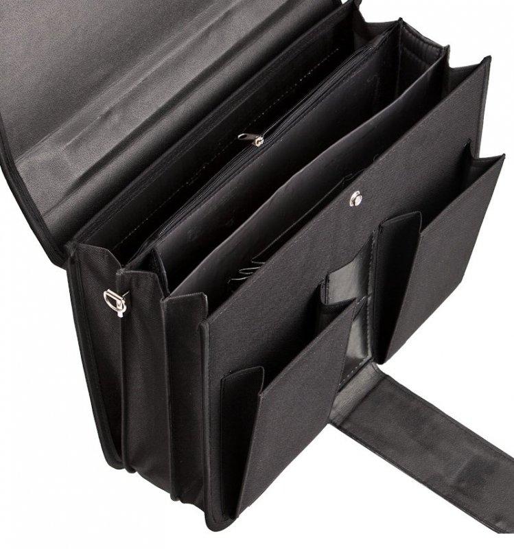 Aktovka REAbags 8001/1-T - černá/nikl