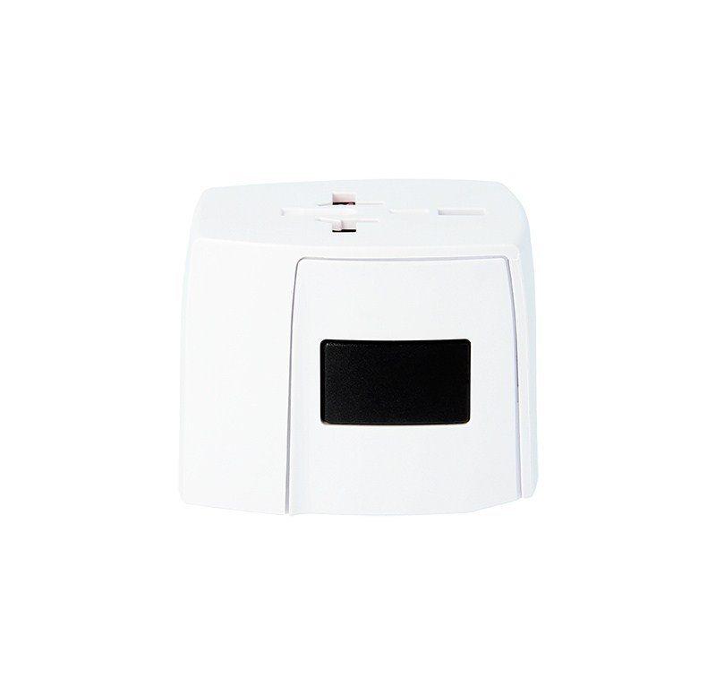 SKROSS MUV 2-pólový cestovní adaptér pro 150 zemí 2x USB, bílý