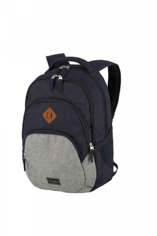 Travelite Basics Backpack Melange Navy/grey