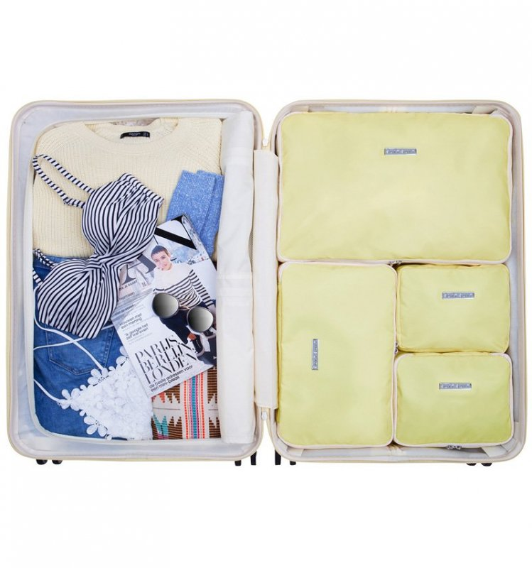 SUITSUIT Packing Cube Set Mango Cream sada organizérů do cestovních kufrů vel. L
