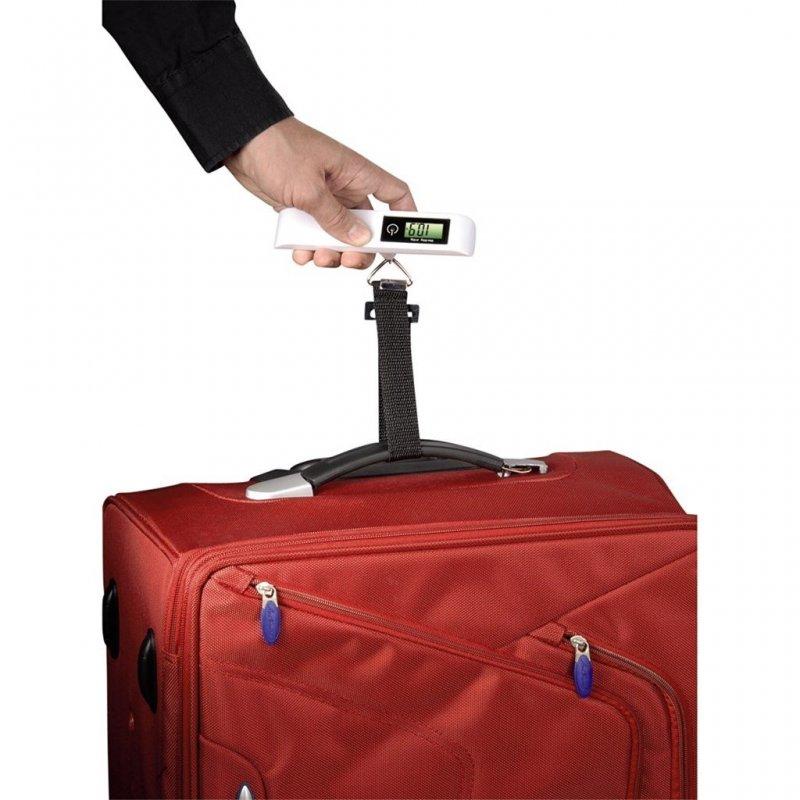 Hama KW-50 digitální příruční váha na zavazadla bílá