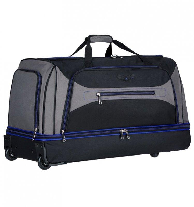 Azure Sirocco T-7554 L cestovná taška 101 l čierna/sivá/modrá