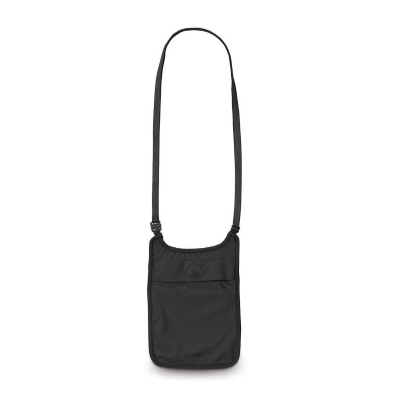 Pacsafe Coversafe S75 Black dámská skrytá bezpečnostní kapsa na krk černá