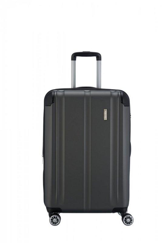 Travelite City 4w M cestovní kufr TSA 68 cm 78/86 l Anthracite