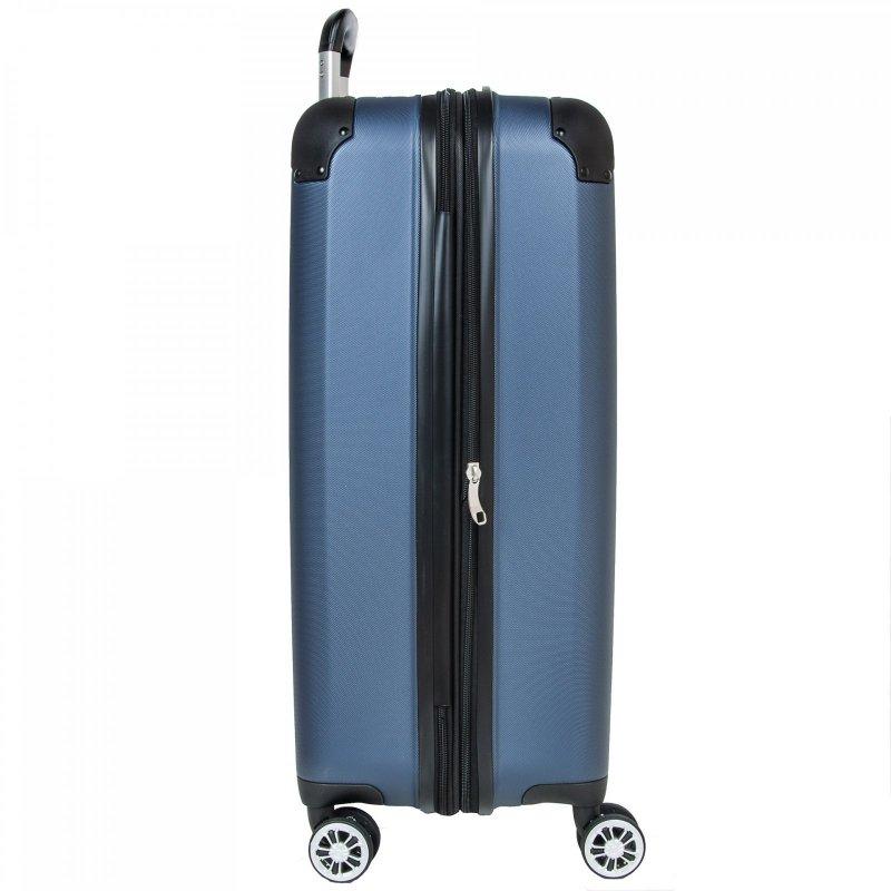 Travelite City 4w M cestovní kufr TSA 68 cm 78/86 l Navy