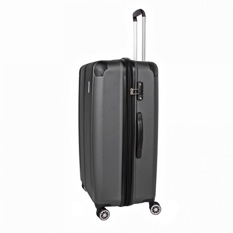 Travelite City 4w L cestovní kufr TSA 77 cm 113/124 l Anthracite