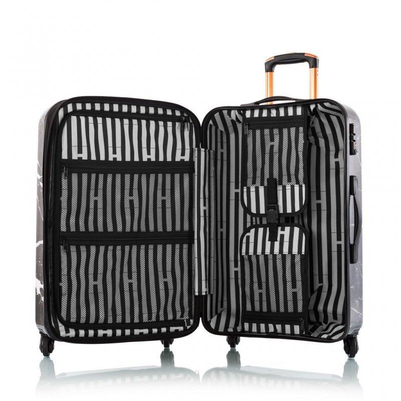 Heys Marquina M skořepinový cestovní kufr TSA 66 cm 89 l černý mramor