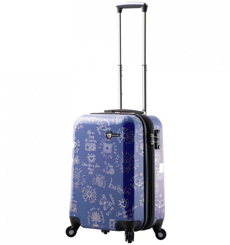 Mia Toro M1089 Love This Life S palubní kufr TSA 56 cm 39-49 l Blue