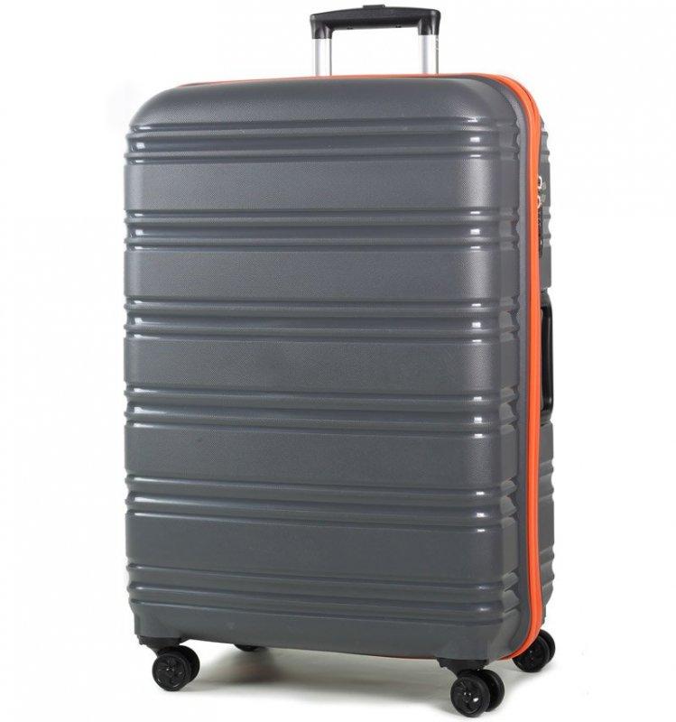 Levně ROCK TR-0164 Impact II L cestovný kufor TSA 76 cm 104 l Grey/Orange