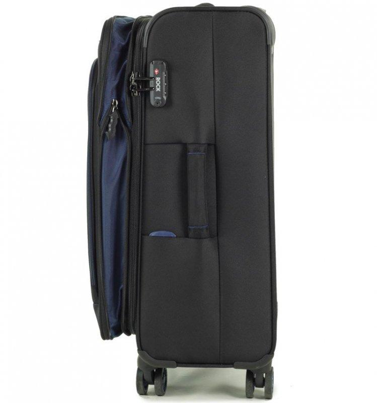 ROCK TR-0162 Apollo M cestovný kufor TSA 67 cm 58/67 l tmavomodrý