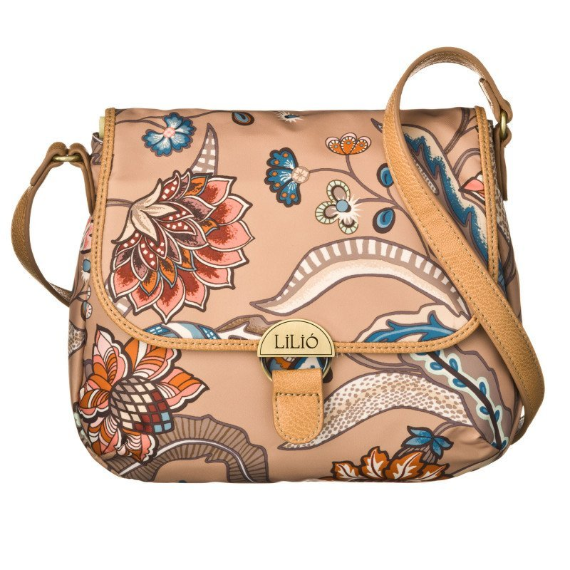 LiLiÓ Arcadia S Shoulder Bag Fudge malá oblouková květovaná kabelka 24x7x19 cm