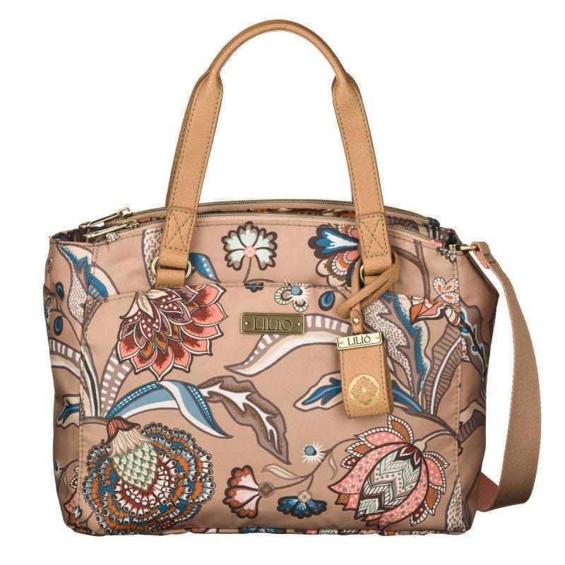 LiLiÓ Arcadia S Handbag Fudge praktická květovaná kabelka 27,5x10x22 cm