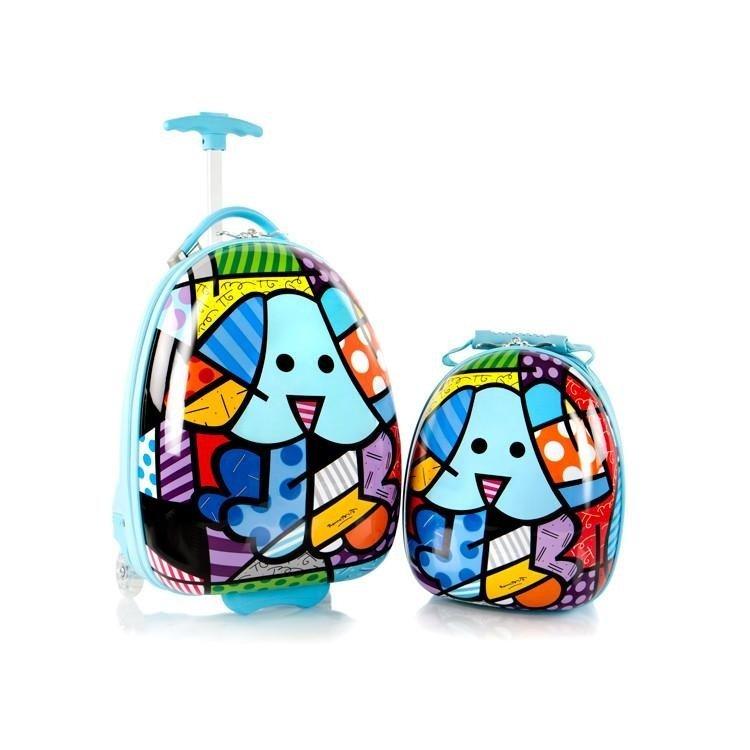Heys Britto for Kids Blue Dog detská súprava kufra 13,4 l a batoha 4,8 l