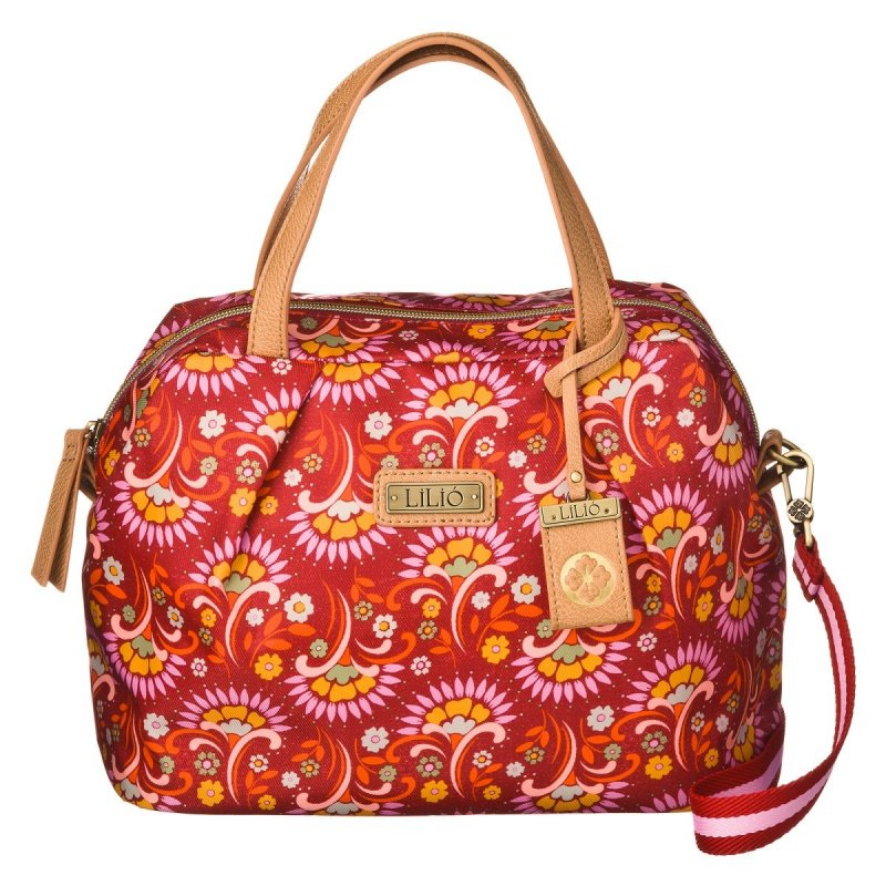 LiLiÓ Tulipwood S Handbag Carmine kompaktní květovaná kabelka 25,5x12x20 cm