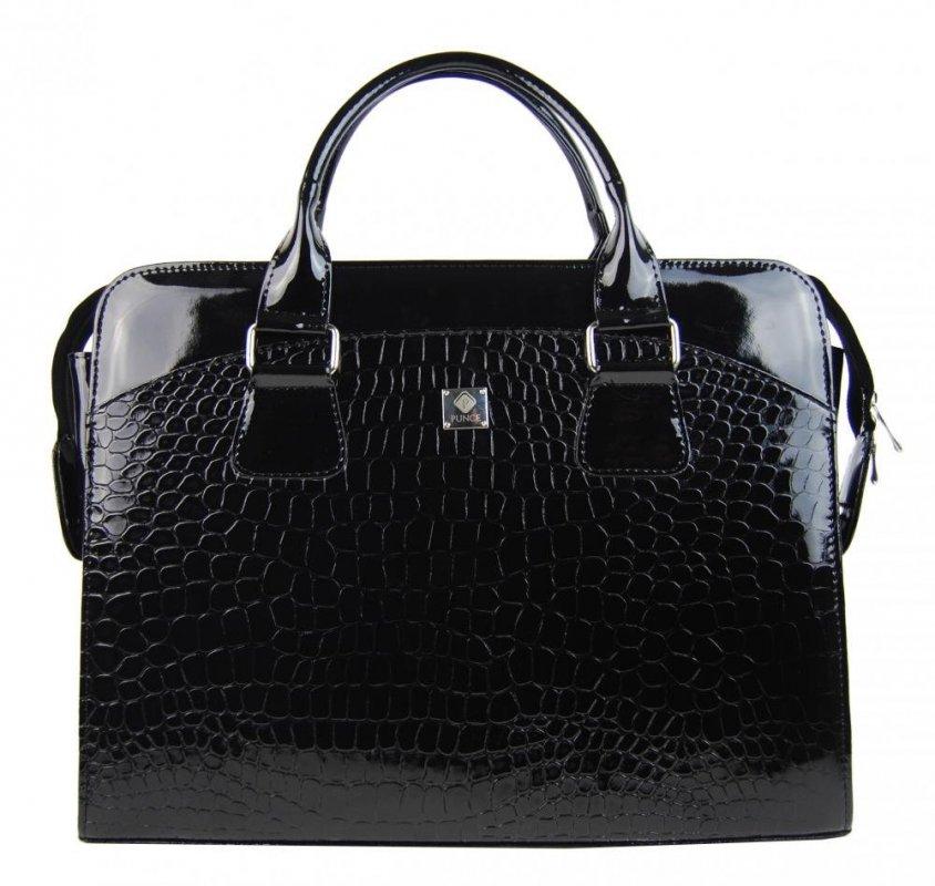 PUNCE LC-01 dámská kabelka pro notebook do 15.6 palce černá