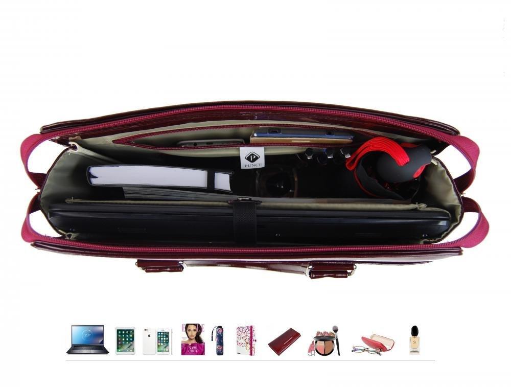 PUNCE LC-01 dámská kabelka pro notebook do 15.6 palce bordová