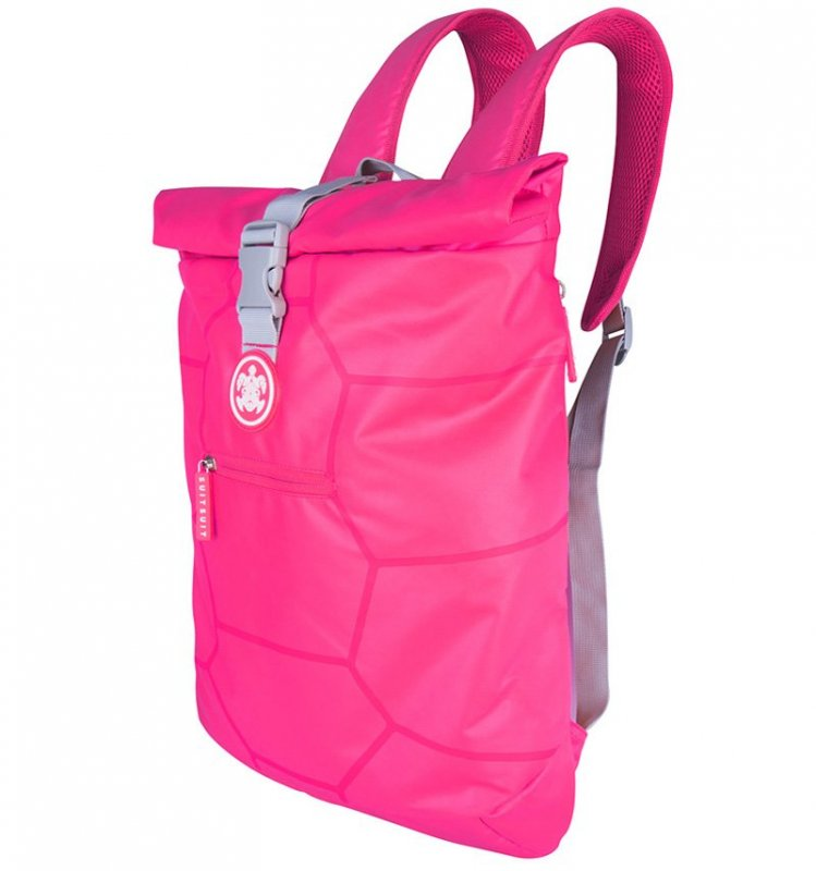 "SUITSUIT Caretta Backpack roll-top batoh na notebook 15"" Hot Pink 12 l"
