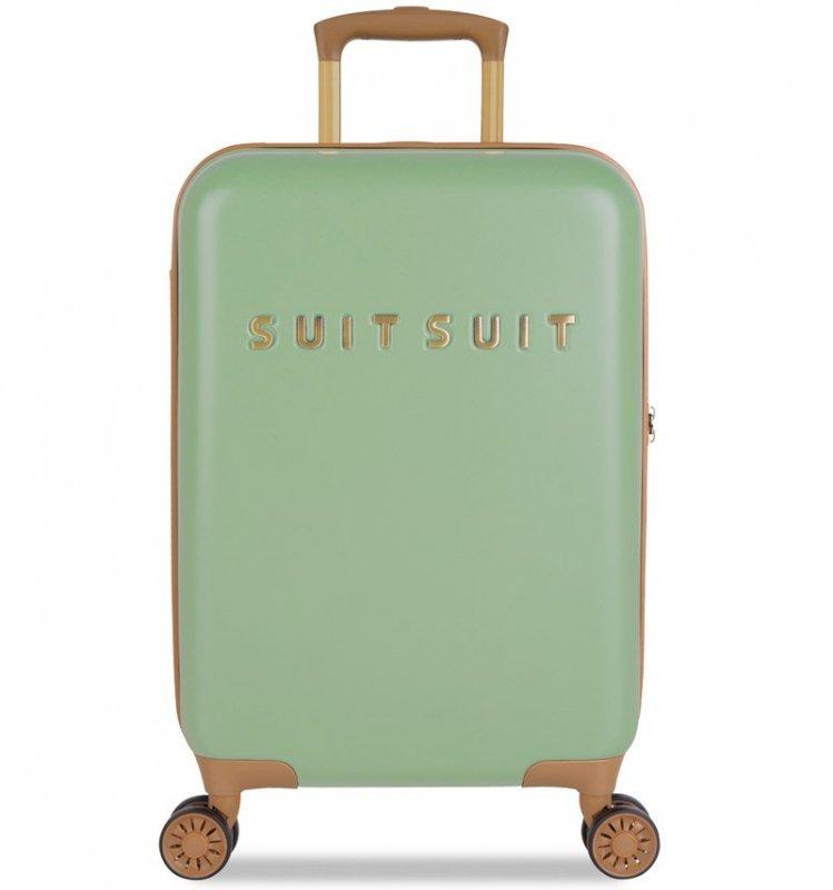SUITSUIT Fab Seventies S Basil Green palubní kufr na 4 kolečkách TSA 55 cm