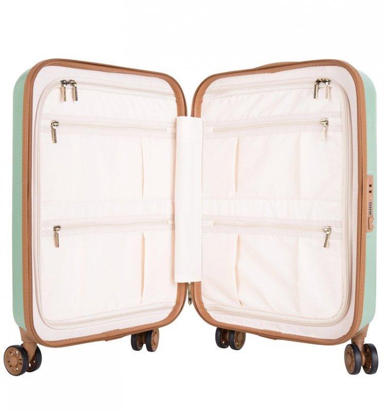 SUITSUIT Fab Seventies Basil Green sada 3 cestovních kufrů TSA 77/67/55 cm