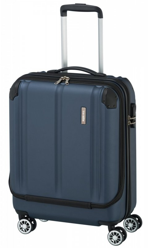 Travelite City 4w S business palubní kufr 55x40x20 cm 40 l Navy
