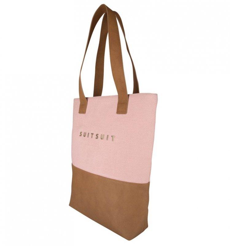 SUITSUIT Upright Bag Coral Cloud stylová kabelka přes rameno 37x35x8 cm