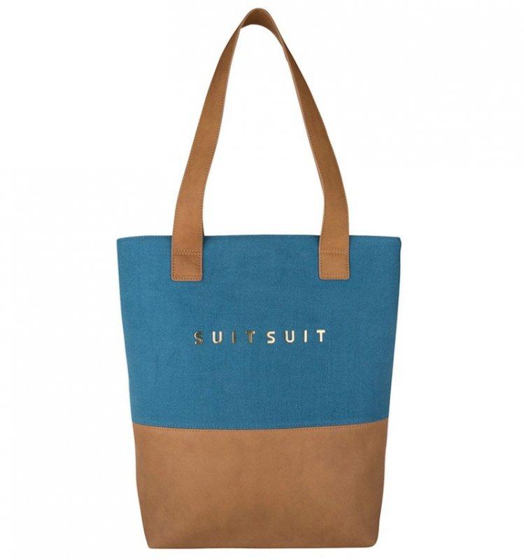 SUITSUIT Upright Bag Seaport Blue stylová kabelka přes rameno 37x35x8 cm