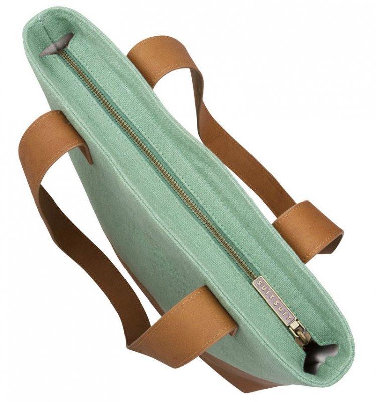 SUITSUIT Upright Bag Basil Green stylová kabelka přes rameno 37x35x8 cm