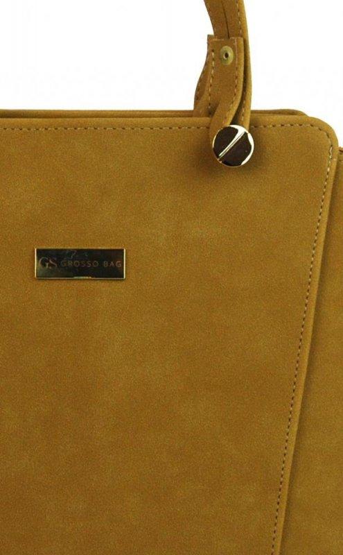 Grosso S640 dámská kabelka přes rameno velbloudí hnědo-žlutá