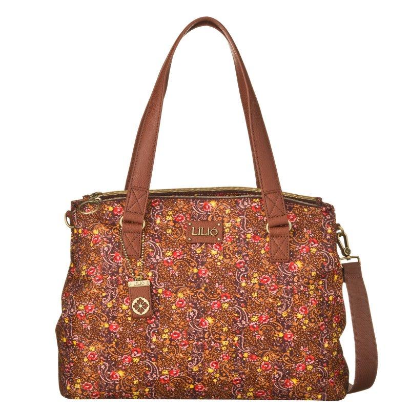 LiLiÓ Ditsy M Carry All Bright Sienna středně velká květovaná kabelka 36x13x27 cm
