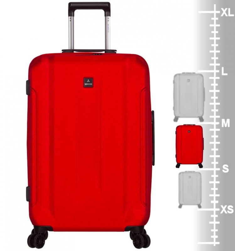 Azure Sirocco T-1177 M cestovný kufor TSA 71 cm 61 l Red