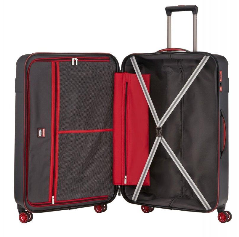 Travelite Vector 4w L cestovní kufr TSA 77 cm 103 l Black