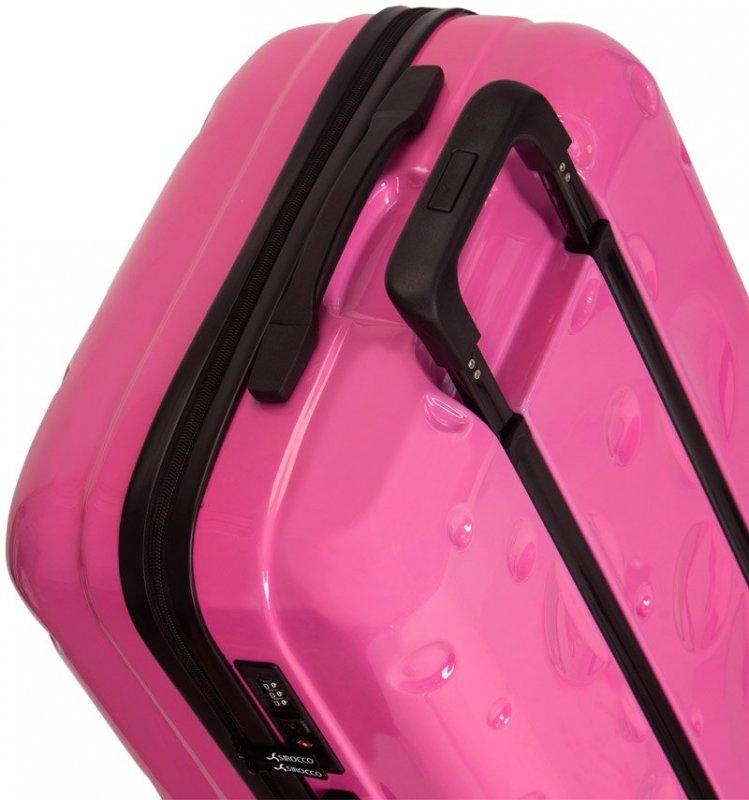 Azure Sirocco T-1194 S palubný kufor do lietadla TSA 56 cm Pink