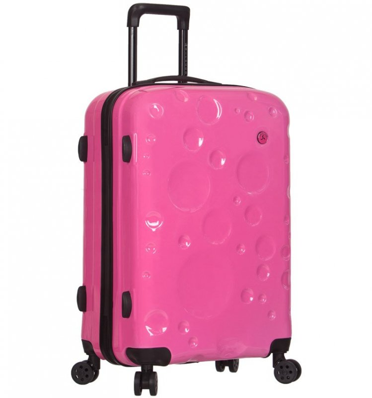 Azure Sirocco T-1194 L cestovný kufor TSA 77 cm 91 l Pink