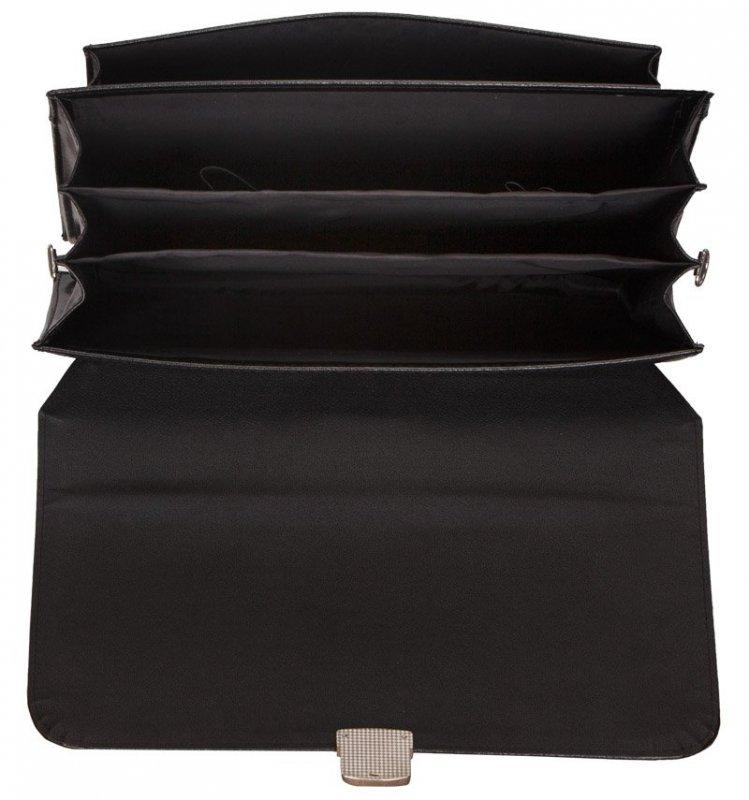 Aktovka REAbags 8003A - černá/nikl