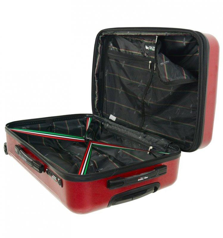 Mia Toro M1239 Manta L Navy cestovní kufr na 4 kolečkách TSA 77 cm 97-121 l
