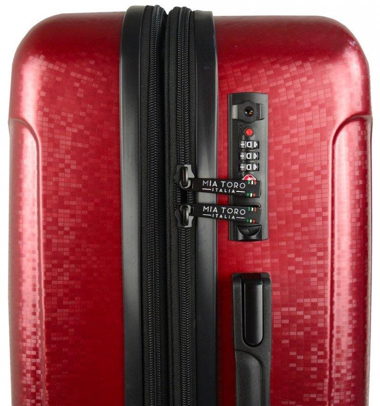 Mia Toro M1239 Manta M Black cestovní kufr na 4 kolečkách TSA 67 cm 66-82 l